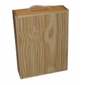 Caja madera tres botellas